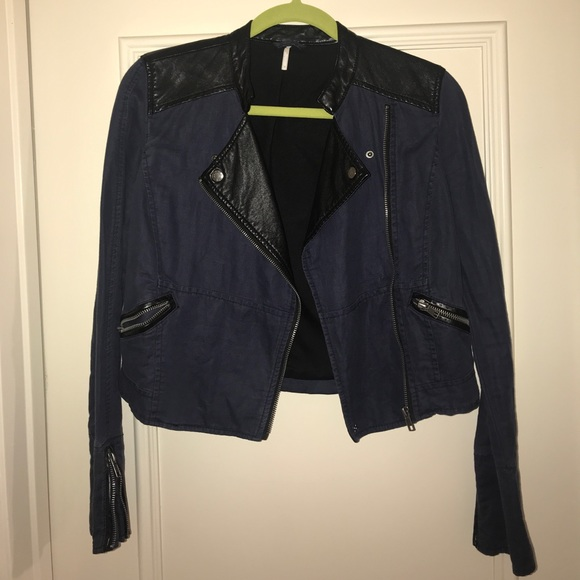 Jean Leather Jacket by Free People